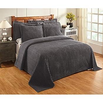 Amazon Com Misc Oversized Grey Chenille Bedspread King