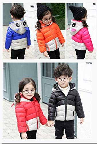 Boy Ultra Light Fairy Coat Hooded Down Baby Toddler Jacket Girl Black Panda Outwear ExqSC4
