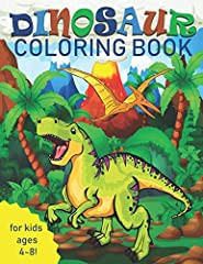 33 completely unique dinosaur coloring pages for kids ages 4-8!For the dinosaur-loving child, what could be more fun than being able to color all of his or her favorite types? Powerful meat-eaters and peaceful herbivores roam through this col...