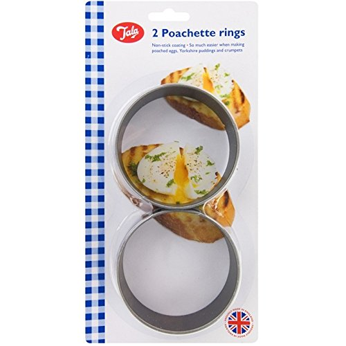 Tala 10A09322 Poachette Ring Non Stick (Set of 2), Black