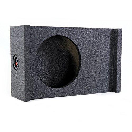 Q-Power Single 12-Inch Universal Downfire/Behind Seat Sub Box | QBSHALLOW12 DF