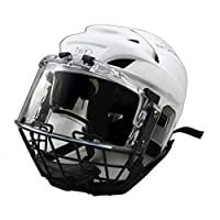 GY White safety hockey helmets with visor and cage combination for beginners