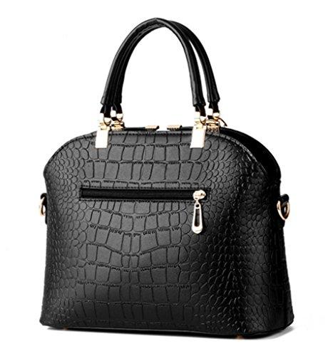 Handbag PU Leather Print Fashion handle and Crossbody Tote Womens Wine Shoulder Red Crocodile Top Bag Purse Tassel with n0wtIxwqdB