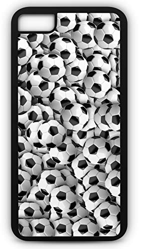 iPhone 7 Case Soccer Balls World Cup Customizable by TYD Designs in Black Plastic Black Rubber Tough Case ()