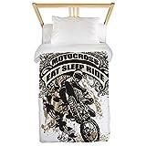 CafePress Eat, Sleep, Ride Motocross Twin Duvet Twin Duvet Cover, Printed Comforter Cover, Unique Bedding, Microfiber