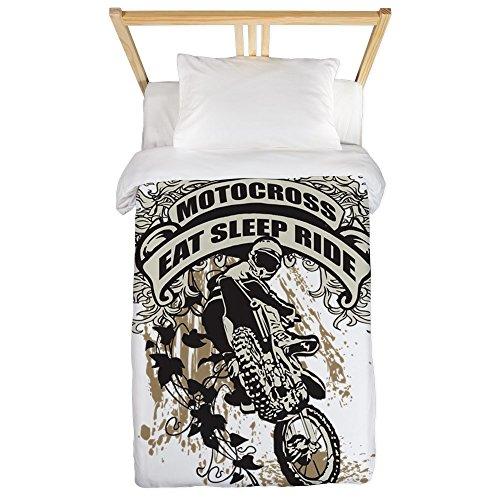 CafePress - Eat, Sleep, Ride Motocross Twin Duvet - Twin Duvet Cover, Printed Comforter Cover, Unique Bedding, Microfiber