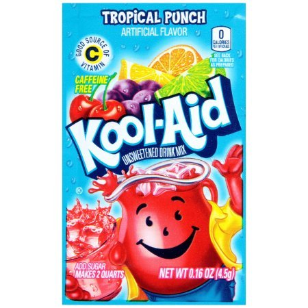 Kool-Aid Drink Mix, Tropical Punch (Pack of 24)