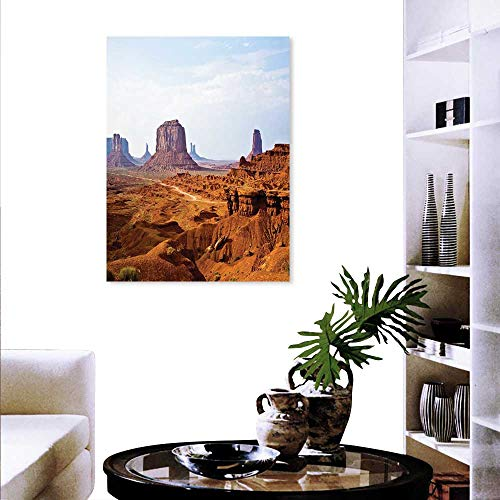 Anyangeight Desert Wall Paintings Monument Valley View from John Fords Point Merritt Butte Sandstone Image Print On Canvas Wall Decor 24