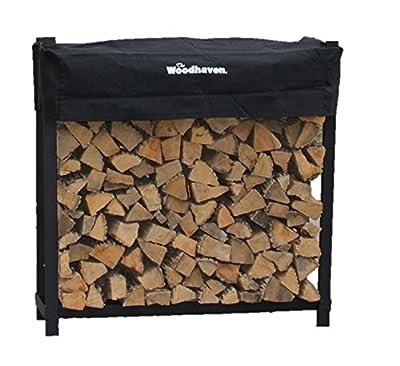 The Woodhaven 4 Foot Firewood Log Rack