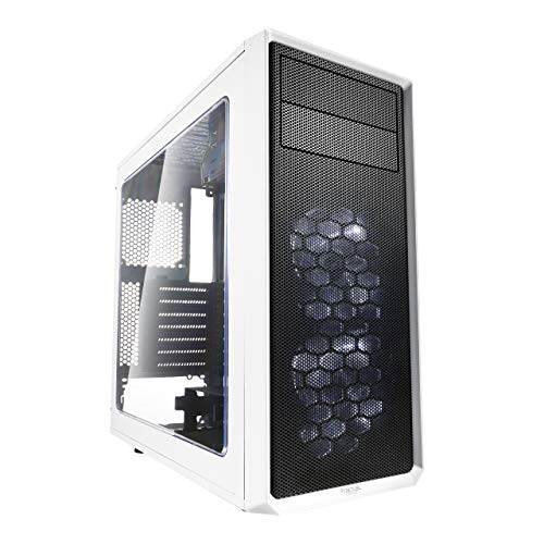 Fractal Design FD-CA-Focus-WT-W ATX Mid Tower Computer Case (Small Computer Case)