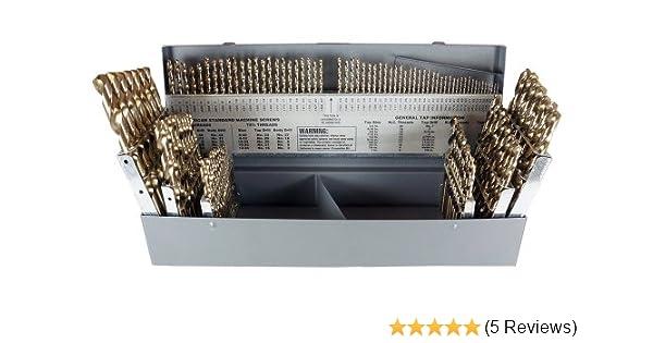 CHICAGO-LATROBE 45721 #51 HSS Black//Gold 135 Deg Jobber Length Drill Bit