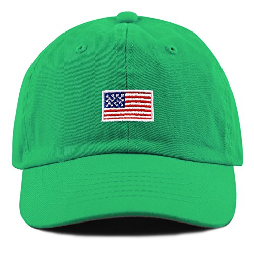 THE HAT DEPOT Kids American Flag Washed Low Profile Cotton a