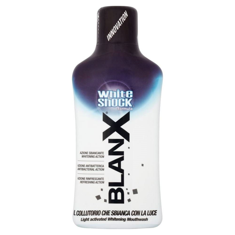 Blanx White Shock Mouthwash (500ml) - Pack of 6