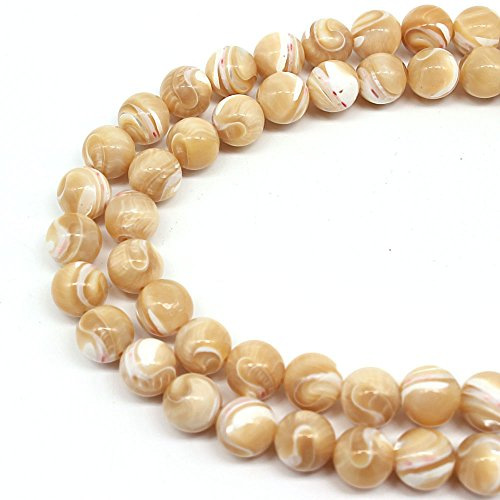 - JARTC Rare Collection Natural Beads Gray Shells Round Loose Beads For Jewelry Making Diy Bracelet Necklace (4mm)