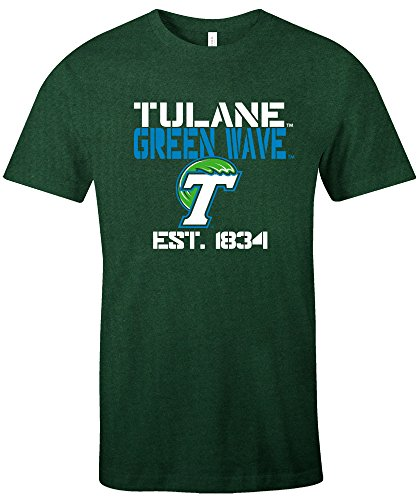 (NCAA Tulane Green Wave Est Stack Jersey Short Sleeve T-Shirt, Evergreen,X-Large)