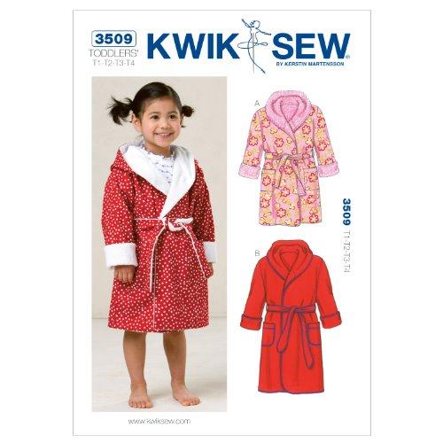 KWIK-SEW PATTERNS Kwik Sew K3509 Robes Sewing Pattern, Size T1-T2-T3-T4 by KWIK-SEW PATTERNS