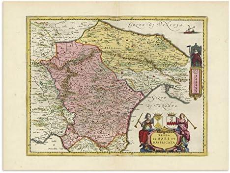 Amazon Com The Blaeu Prints Bari Italy Historical Map Print