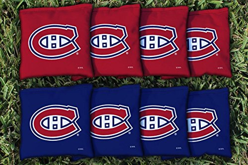 Victory Tailgate 8 Montreal Canadiens NHL Cornhole Game Bag Set (8 Bags Included, Corn-Filled) - Montreal Canadiens Rink