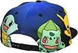 BIOWORLD Pokemon The Original Starters Blue Gradient Snapback Cap