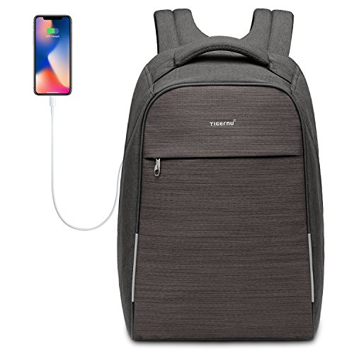 5d43c0effc Kuprine Anti Theft Business Laptop Backpack with USB Charging Port   Scan  Smart Travel Bag