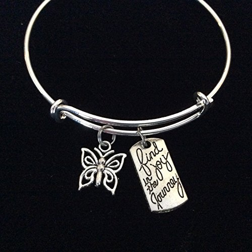 Journey Silver Butterfly Adjustable Expandable