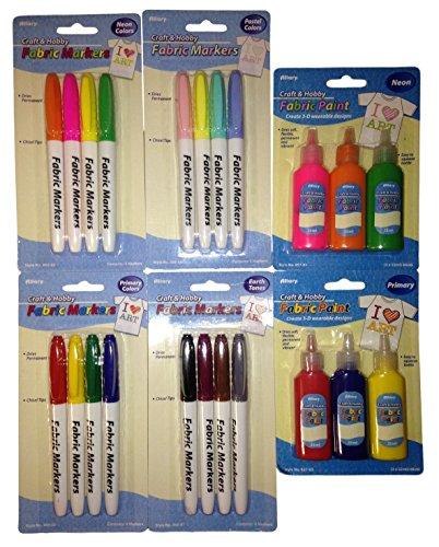 [해외]패브릭 마커 및 패브릭 페인트 6 품목 번들/Fabric Markers and Fabric Paint 6-Item Bundle