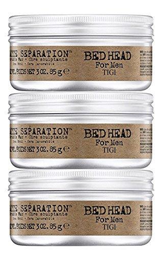 - Bed Head Men Matte Separation Workable Wax by TIGI- 3oz 3pk