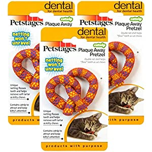 Petstages (2 Pack) Catnip Plaque Away Pretzel (Assorted Colors) 49