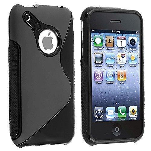 S-Line TPU SchutzHülle für Apple Iphone 3 / 3GS Silikon Hülle in Schwarz