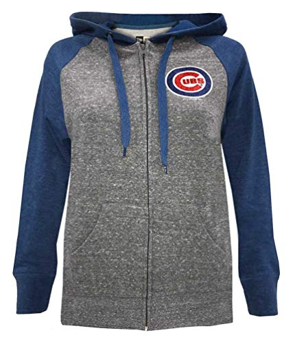New Era Chicago Cubs Women's MLB Double Tri-Blend Hooded Sweatshirt