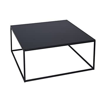 Space Table Carré De Basse Contemporain Gillmore Noir Verre Black bgf6Y7y