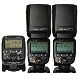 YONGNUO 2 Pack YN600EX-RT II Auto TTL HSS Flash Speedlite and YN-E3-RT Controller for Canon 5D3 5D2 7D Mark II 6D 70D 60D 650D