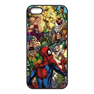 Custom Personalized Spider Man Back Cover Case TPU for iphone5,5S JN5S-898