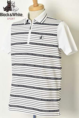 [ブラック&ホワイト] 半袖ハーフジップシャツ トップス メンズ ゴルフ LL ホワイト(10) B07Q8KQD41