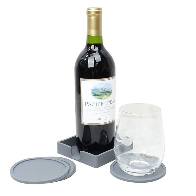 Amazon.com: Posavasos antideslizante de silicona para bebida ...