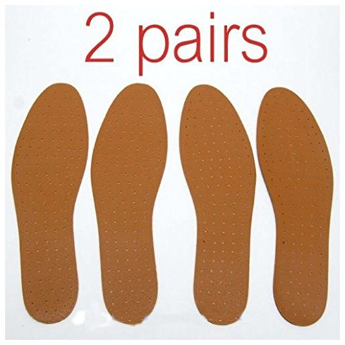 2 pairs Synthetic Leather INSOLE Shoe Insert Pads Comfort Cushioning UNISEX NEW! from Unknown