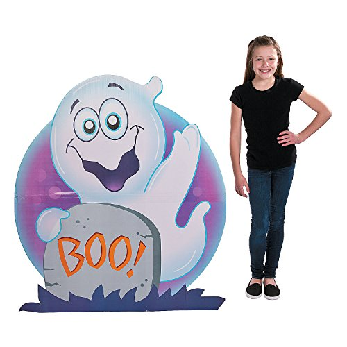 Fun Express - Halloween Ghost Stand up for Halloween - Party Decor - Large Decor - Floor Stand Ups - Halloween - 1 Piece]()