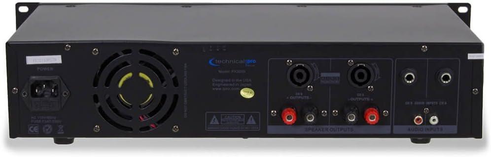 Technical Pro PX3000 Professional 2-Channel 3000 Watt Power Amplifier