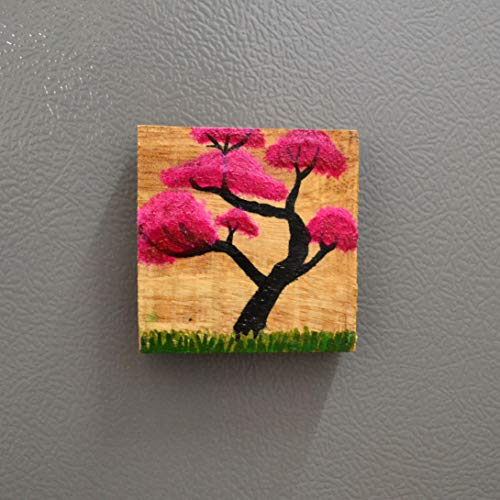 Chinhhari Arts, Wooden Hand Painted Frame Magnet/Fridge Magnet/Door Magnet/Almira Magnet/Home Decorative Accents