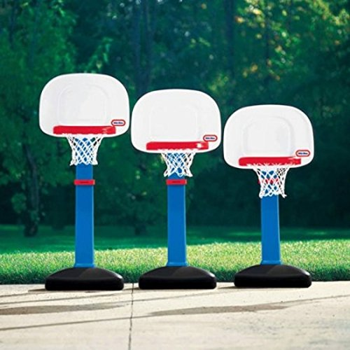 Kids' Adjustable Heights Basketball Hoop With Oversized Rim Set