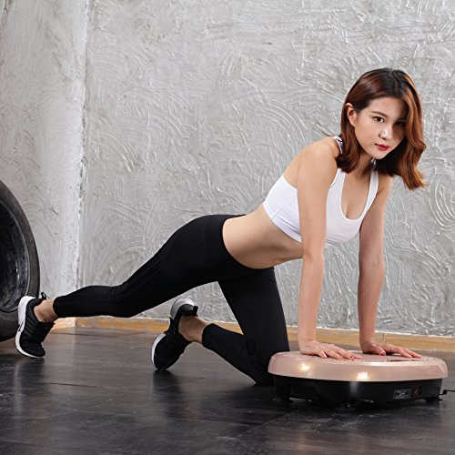 JUFIT Fitness Machine Whole Full Body Shape Exercise Machine Vibration Plate Fit Massage Workout Trainer Vibration Platform Machine,Max User Weight 330lbs