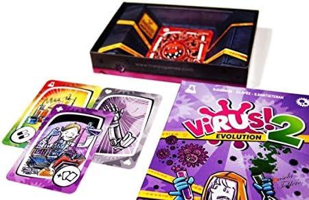 Outletdelocio. Expansion para el Juego de Cartas Virus. Virus 2 Evolution. Edicion Española. +8 años: Amazon.es: Juguetes y juegos