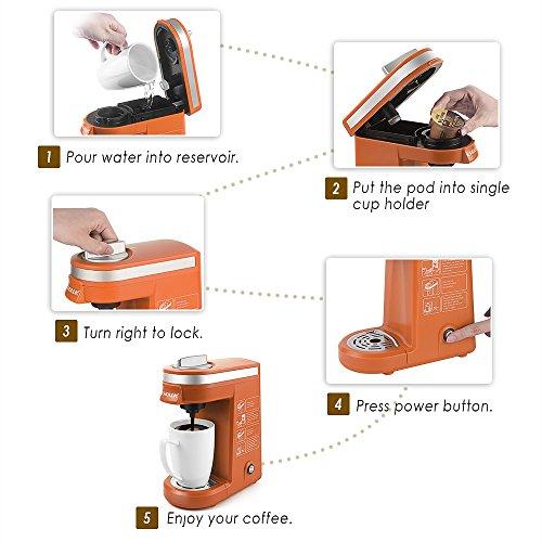 CHULUX Coffee Coffee for Capsule,Orange