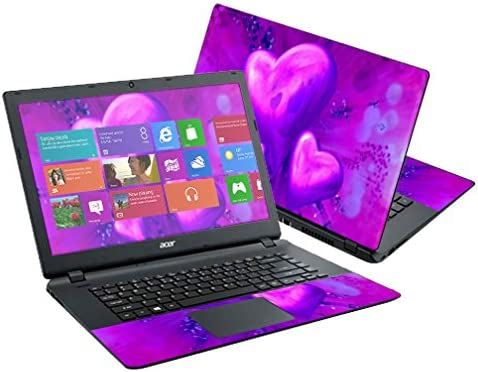 MightySkins Skin Compatible with Acer Aspire E15 ES1-511 15.6 Cover wrap Sticker Skins Purple Heart