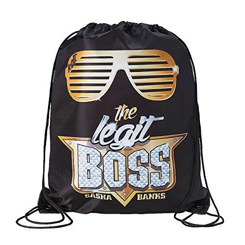 Sasha Banks The Legit Boss WWE Drawstring Bag by WWE