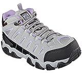 Skechers Womens Work Blais Ebz Steel Toe Boot,Gray/Lavender,US 8.5 M