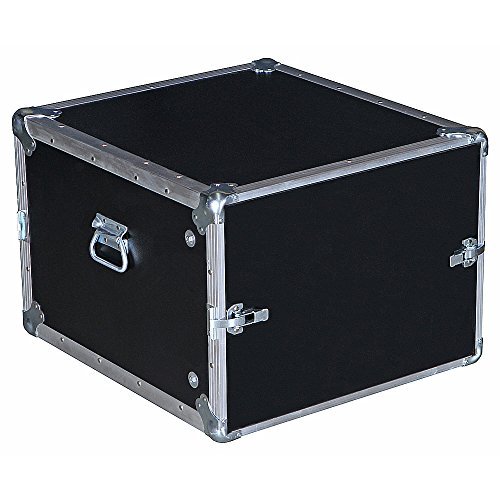 8 Space 8u 19 3/4 Deep Economy Flat Lids 3/8 Ply Heavy Duty ATA Style Compact Rack Case