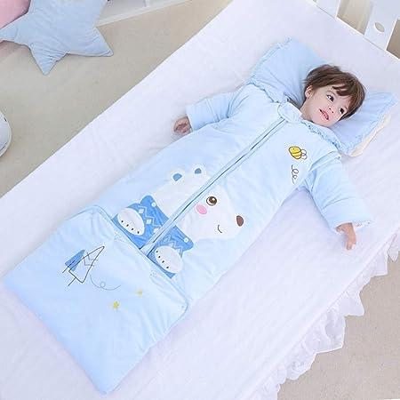TAYIBO Saco Dormir Bebe Verano,Saco de Dormir de Invierno cálido para niños, Oso de Ante Largo del Bosque, Anti-Kick-Blue_0-6 años: Amazon.es: Hogar