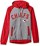 G-III Sports NFL Kansas City Chiefs Legend Hooded Track Jacket, 5X, Gray