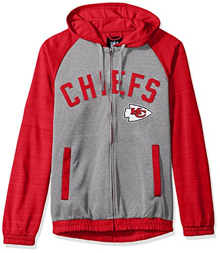 NFL Kansas City Chiefs Legend Hooded Track Jacket, 5X, - Kc In Legends